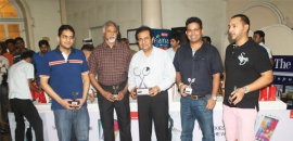 Merchant Cup Badminton Tournament prize distribution
